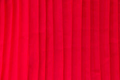 Red pleat fabric background Stock Images