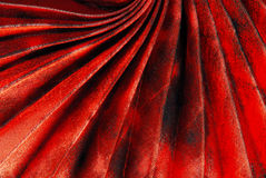 Red pleated fabric Royalty Free Stock Image