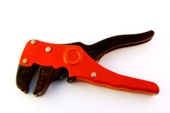 Red pliers. Isolated on white background Stock Photo