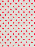 Red ploka dot on white fabric texture Royalty Free Stock Photo