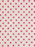 Red ploka dot on white fabric texture Royalty Free Stock Photo