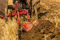 Red Plough Royalty Free Stock Photos