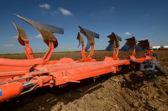 Red plow Royalty Free Stock Photography