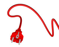 Red plug in Stock Images