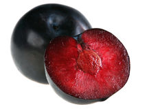 Red plum stock image