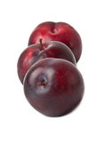 Red plum fruit Stock Photography