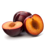 Red plum fruit Stock Image