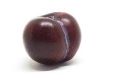 Red plum fruit. Isolated on white background Stock Image