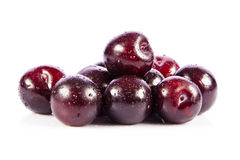 Red plum fruit isolated on white Royalty Free Stock Photography