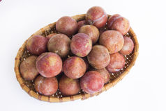 Red plum fruit Royalty Free Stock Images