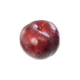 A red plum lying on a table Stock Image