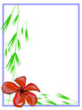 Red Plumeria Border Stock Photography