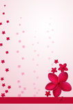 Red Plumeria Design Royalty Free Stock Image