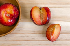 Red Plums Stock Photography