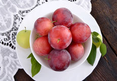 Red plums Royalty Free Stock Photos