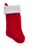 Red plush Christmas stocking Royalty Free Stock Photo