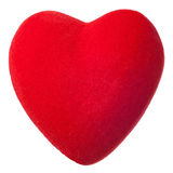 Red plush heart Stock Photo