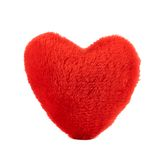 Red plush heart Stock Photography