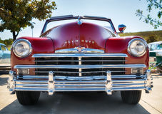 Red 1949 Plymouth classic car Royalty Free Stock Images