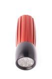 Red pocket flashlight isolated Royalty Free Stock Photo