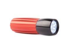 Red pocket flashlight isolated Stock Photos