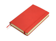 Red pocket journal Stock Photo