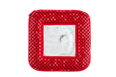 Red pocket mirror. With scratches on white background Royalty Free Stock Image