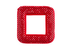 Red pocket mirror. On white background Stock Image