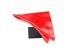 Red pocket square Stock Photo