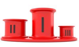 Red Podium Stock Images