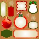 Red Poinsettia Christmas Background Stock Photo
