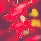 Red Poinsettia Christmas ornament Stock Photography