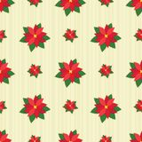 Red Poinsettia Seamless Tile Stock Photos