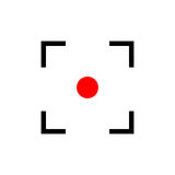 Red point. Target icon. Royalty Free Stock Photography