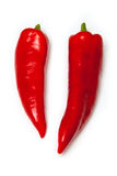 Red pointed peppers Royalty Free Stock Photography