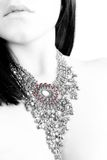 Red points. An high key of a woman with a jewel Stock Photo