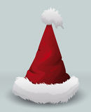 Red Pointy Santa's Hat, Vector Illustration royalty free stock photography