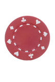 Red poker chip. Royalty Free Stock Photo