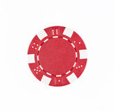 Red poker chip. On white background Royalty Free Stock Image