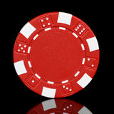 Red poker chip Stock Images