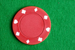 Red Poker Chip Royalty Free Stock Images
