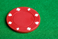 Red Poker Chip Royalty Free Stock Photos