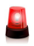 Red Police beacon. Vector illustration background Royalty Free Stock Photo