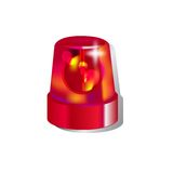 Red police light. Isolated on white background Royalty Free Stock Photo
