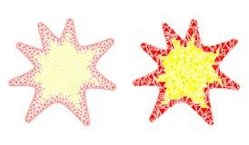Red poligonal Mesh Exploding Boom e icono del mosaico libre illustration