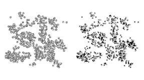 Red poligonal Mesh Particle Swarm e icono del mosaico libre illustration