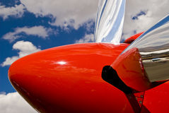 Red polished chrome Propeller Royalty Free Stock Image