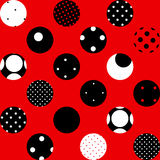 Red polka dot. Seamless background pattern. Will tile endlessly. Pattern polka dot Stock Photo
