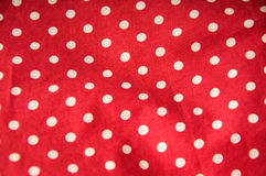 Red polka dot background Stock Photo