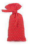 Red polka dot bag Royalty Free Stock Photo